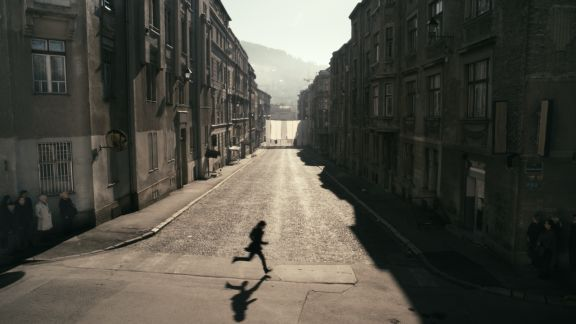 1395 Days Without Red, 2011 (film still), A film by Anri Sala, In collaboration with Liria Begeja, From a project by �ejla Kamerić and Anri Sala in collaboration with Ari Benjamin Meyers, Commissioned by Artangel