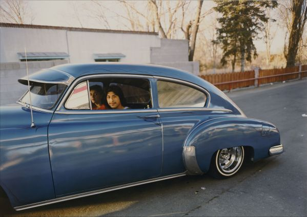 Meridel Rubenstein, Donaldo Valdez, El guique, �49 Chevy from �The Lowriders, Portraits from New Mexico,� 1980, Colour coupler print, 35.6 x 43.2 cm, @ Meridel Rubenstein