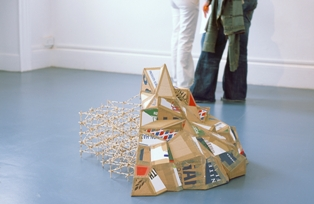 FAKE FAKE MOUNTAIN, cardboard, matches, glue, tape, 2007