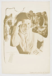 Robert Rauschenberg, Tanya Grossman, 1967, 57.6 x 39.4 cm.  The Novak O'Doherty Collection. � Estate of Robert Rauschenberg. DACS, London/VAGA, New York, 2010. Photo Ellen Page Wilson Photography, New York