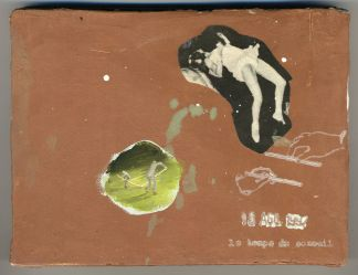 Francis Alÿs, Le Temps du Sommeil, 1996 – present, series of 100 paintings (ongoing), oil and pencil on wood, 12 x 16 cm