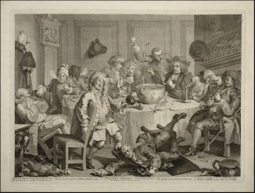 William Hogarth, A Midnight Modern Conversation