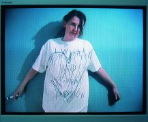 Isabel Nolan, Sloganeering 1-4, 2001, Video transferred to DVD, duration 4 mins, edition 1/3, Collection Irish Museum of Modern Art, Purchase, 2002
