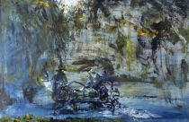 Jack B. Yeats. st. Stephen's Green, Closing Time, 1950. Oil on canvas. 36 x 53.5 cm.  Collection Irish Museum of Modern Art. Heritage Gift by Brian Timmons, 2002.