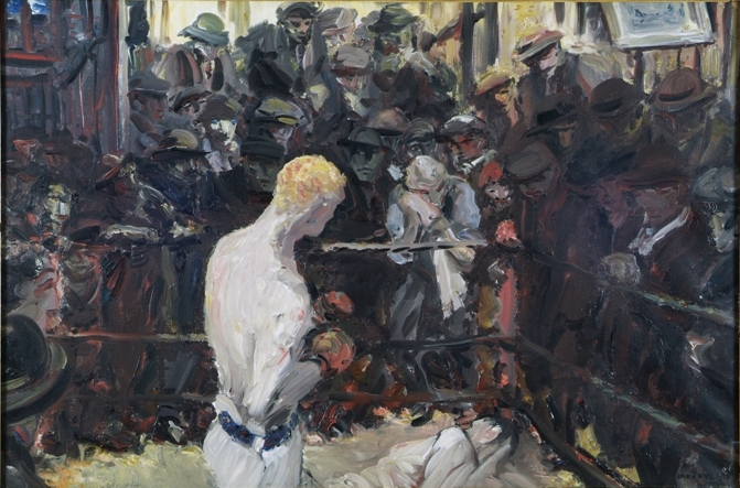 Jack B. Yeats. The Small Ring, 1930. Oil on canvas. 61 x 91.5 cm. Collection Crawford Art Galler, Cork.