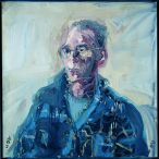 Nick Miller, Patrick Hall, 1994, Oil on Canvas, 86 x 86 cm, Purchase, Collection Irish Museum of Modern Art