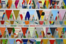Matthew Northridge,detail of Memorial to the Great Western Expo, paper/tape,2005