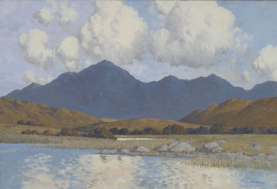 Paul Henry, Lake and Blue Mountains of Connemara, undated, Oil on canvas, Unframed: 40 x 60 cm , Collection Irish Museum of Modern Art, Heritage Gift from the McClelland Collection by Noel and Anne Marie Smyth, 2004