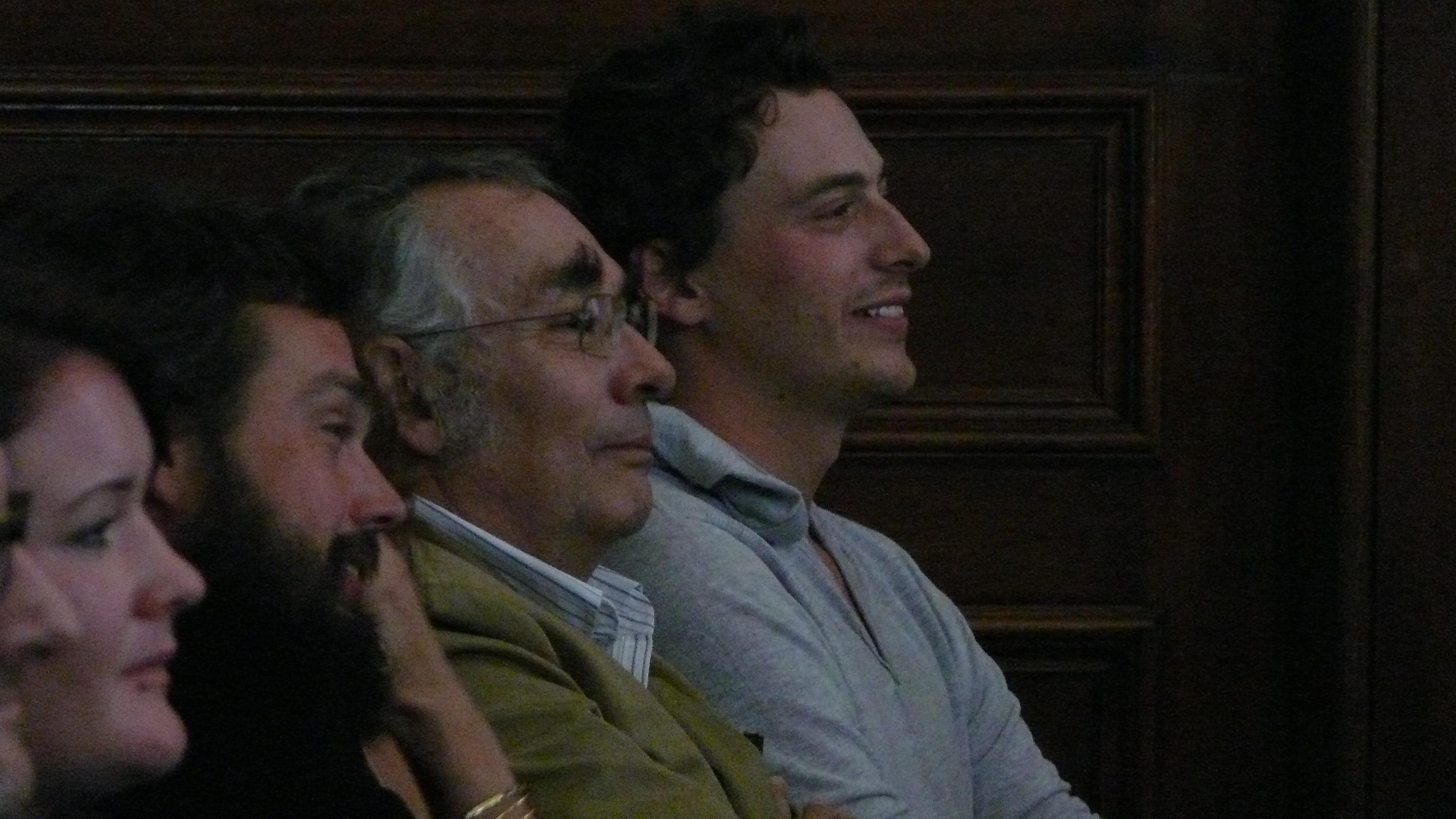 from right to left: Daniel Weisz Carrington (grandson) and Gabriel Weisz Carrington (Son)