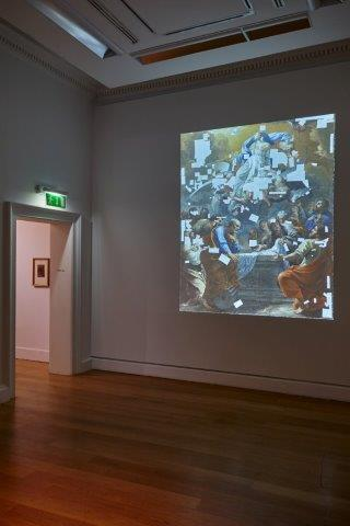 Charles Poërson's The Assumptionof the Virign, 1645 – 1650 (NGI) currently in conservation at the National Gallery of Ireland and photographed for Trove by Roy Hewson, photo Denis Mortell Photography