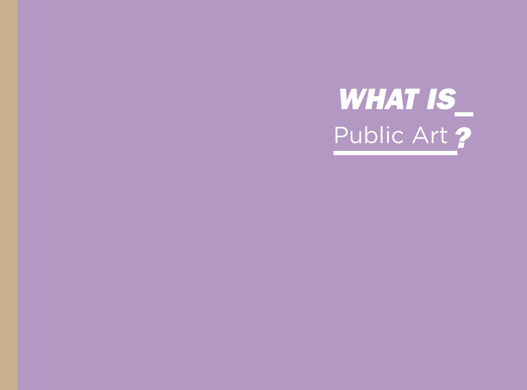 What is Public Art