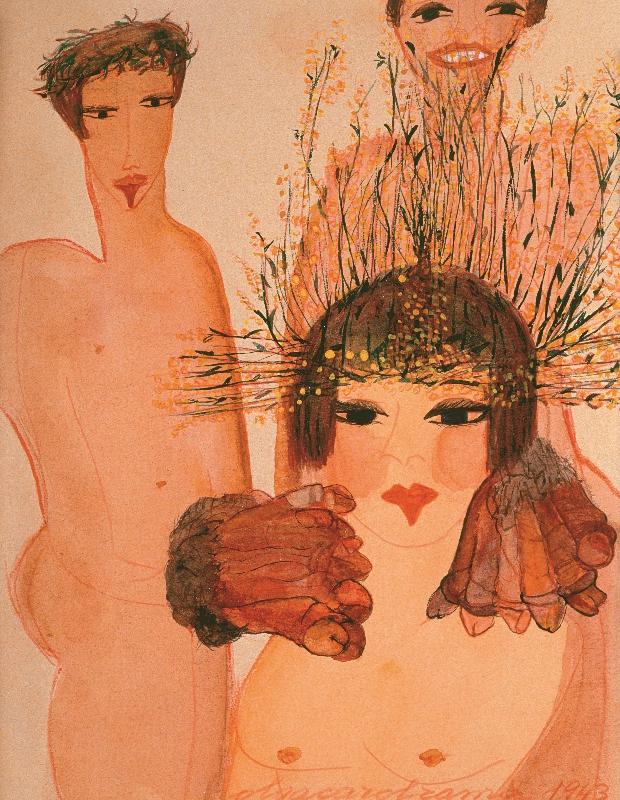 "Carol Rama, ""Appassionata Passionate"", 1943"