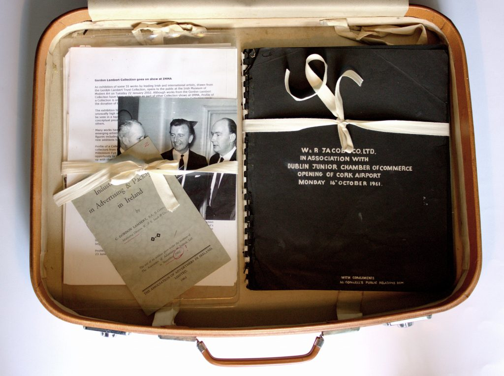 Gordon Lambert's suitcase containing archive material, Photo: Chris Jones