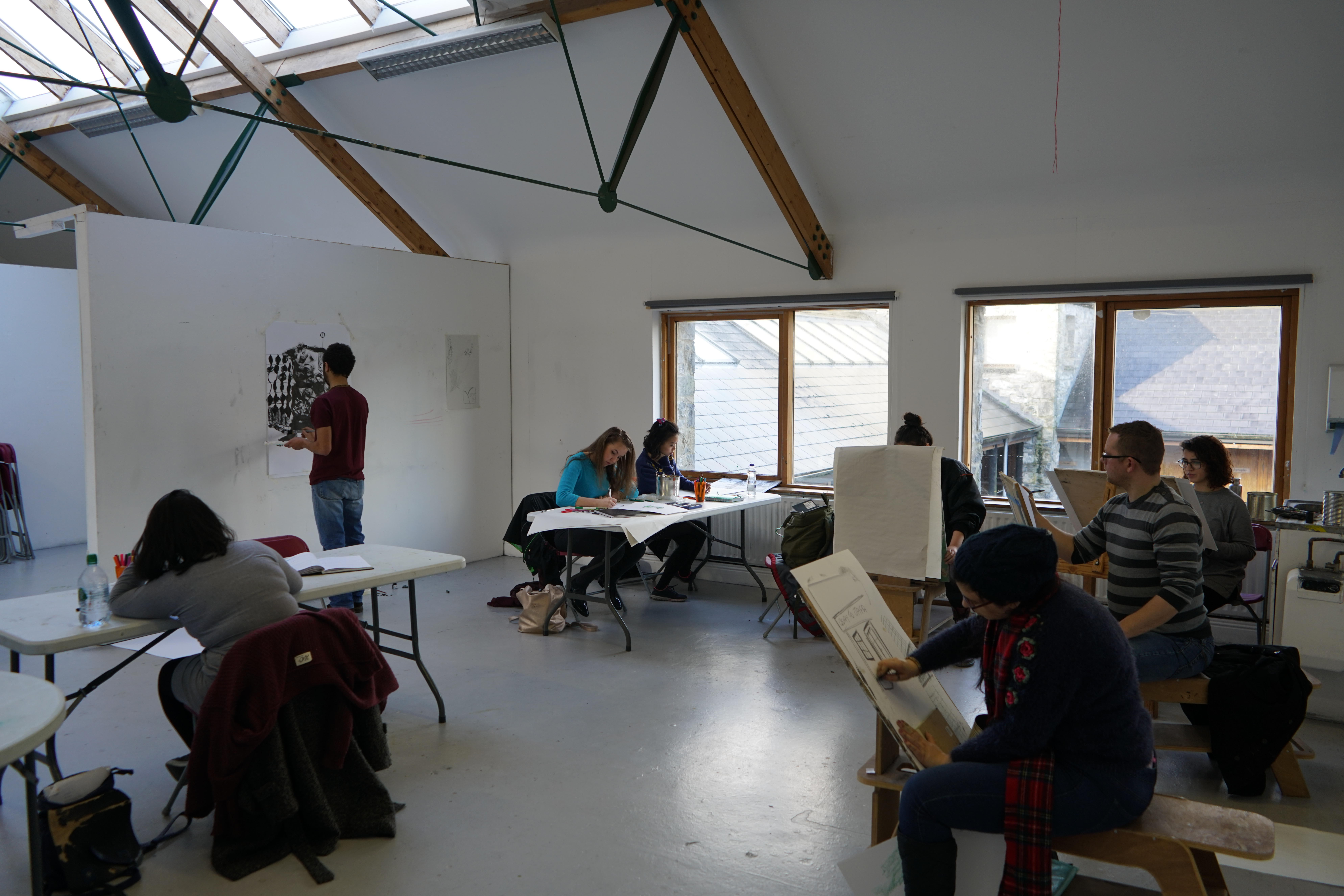 Drawing workshop, Burren School of Art