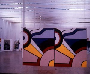 View of Rosc '67 showing paintings by Lichtenstein and Picasso, Anne Crookshank.