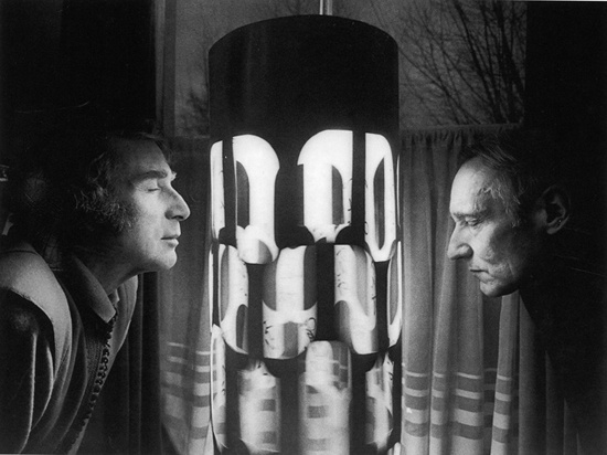 Brion Gysin and William Burroughs with the Dreamachine. Photograph by Charles Gatewood