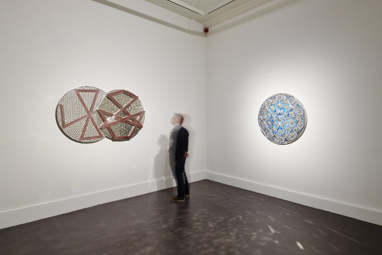 Installation view of Monir Shahroudy Farmanfarmaian, Sunset, Sunrise, 2018. IMMA, Dublin. Photo: Ros Kavanagh