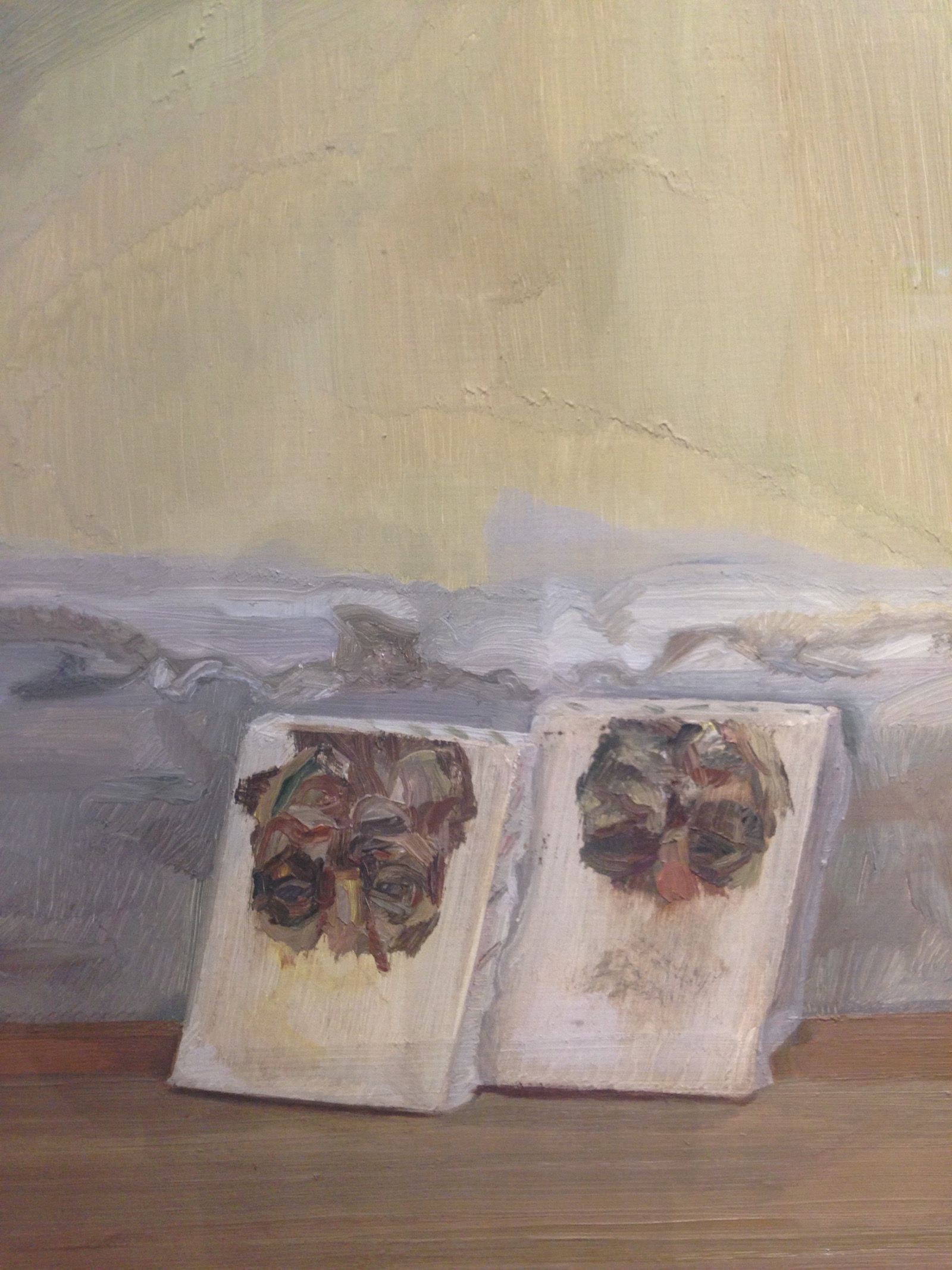 Detail image from Two Irishmen in W11, Oil on canvas, 172.7 x 141.6cm, 1984-85, Private Collection