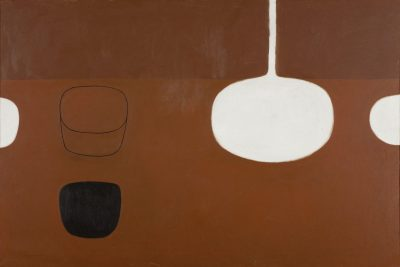 Still Life Brown with Black Note