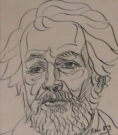 Drawing for a Portrait of Paddy Collins