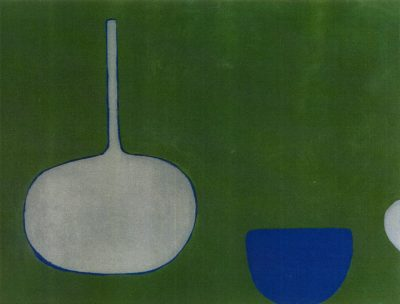 Pan and Bowl, Blues on Green