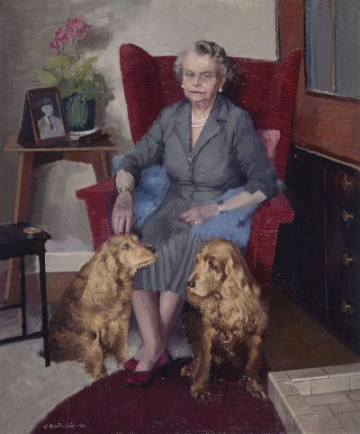 Mother with Monty and Duke