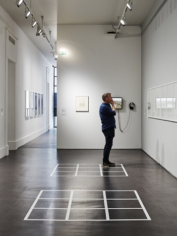 Installation View of IMMA Collection Brian O'Doherty Language and Space, 26 April – 16 September 2018, IMMA. Photography Ros Kavanagh