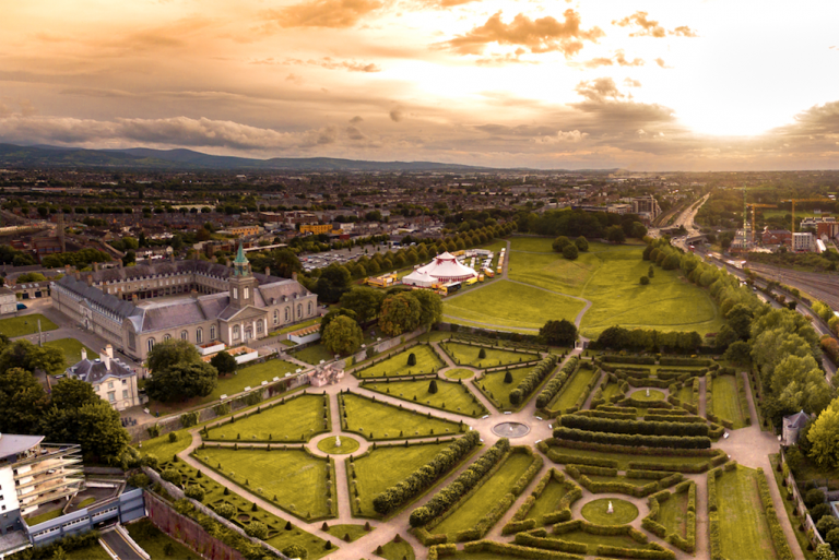The Royal Hospital Kilmainham, viewed from the air.