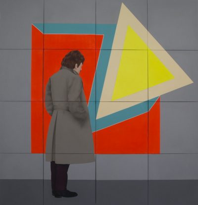 Man with a Frank Stella