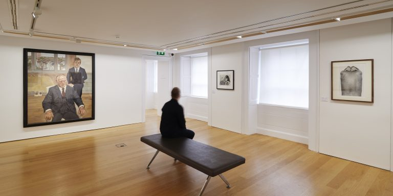 Installation view of IMMA Collection: Freud Project, Gaze. Photo: Ros Kavanagh.