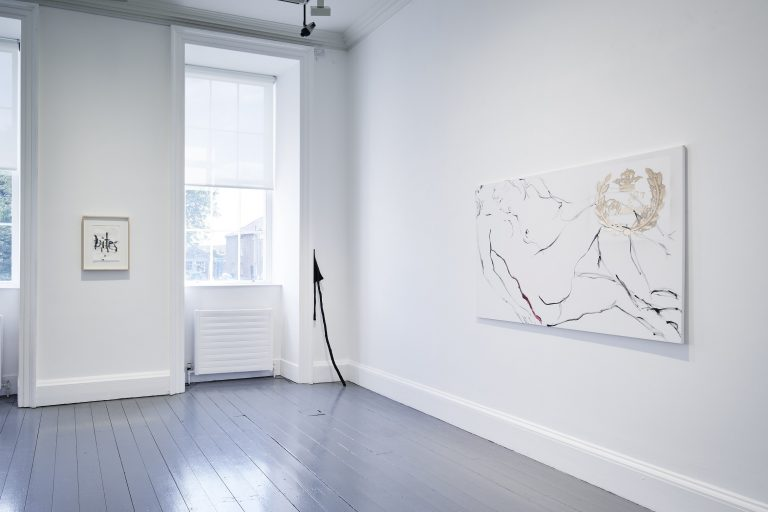 Installation view of Kim Gordon: She bites her tender mind, 27 July - 10 November 2019, IMMA, Dublin. Photo by Ros Kavanagh.