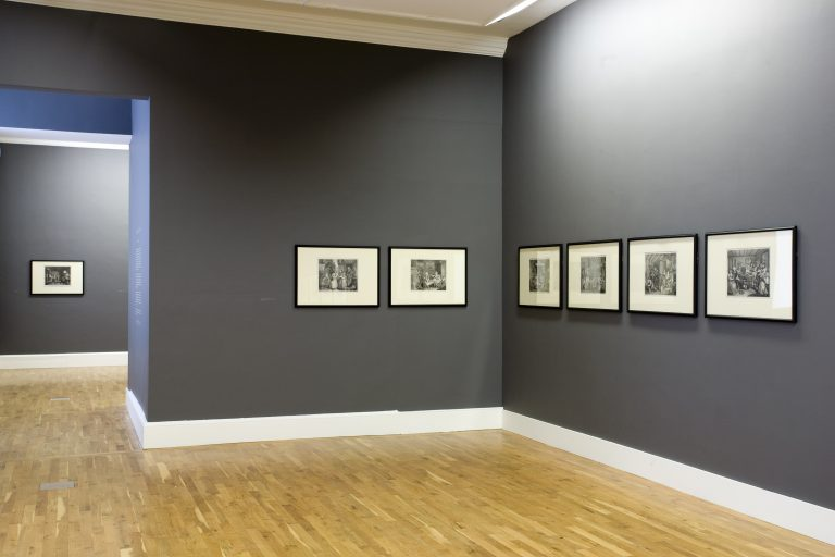 Installation view William Hogarth Prints from the IMMA Collection, 2007