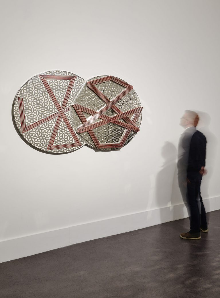 Installation view of Monir Shahroudy Farmanfarmaian, Sunset, Sunrise