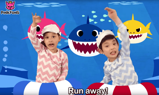 Screen-shot,'Baby Shark' music video produced by Pinkfong Image Source