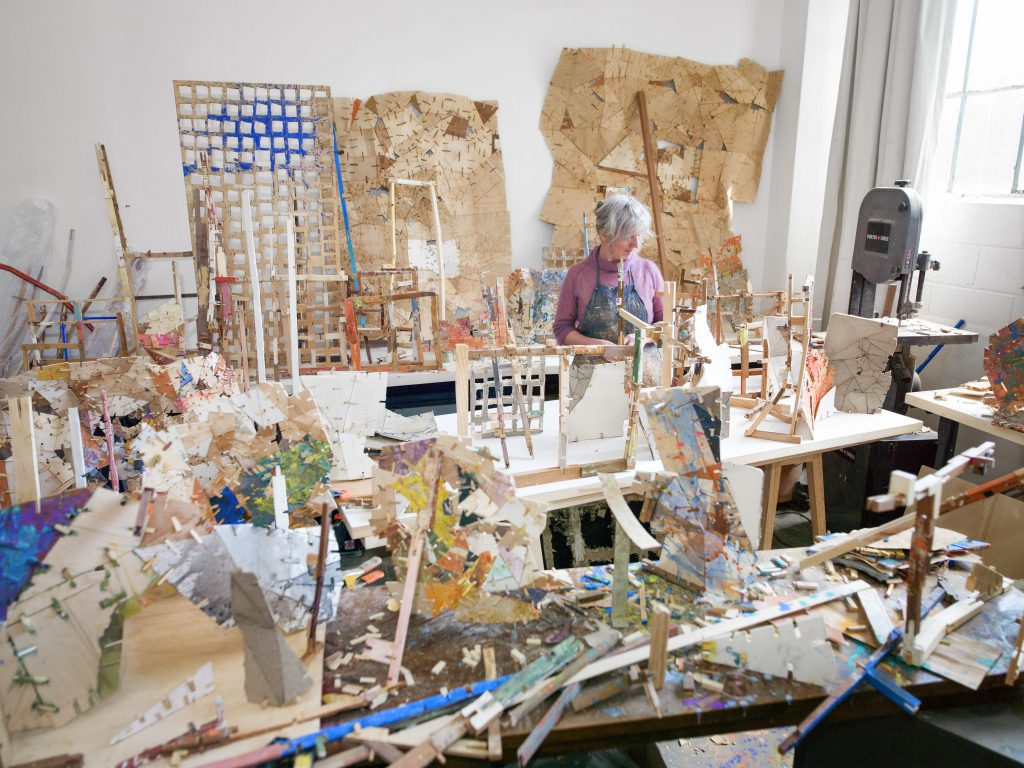 Helen in the Studio – work in progress, from the series Safe House, Photo credit Eva O' Leary