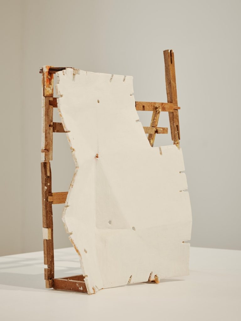 Helen O'Leary, The Problem with Adjectives, 2017, Egg tempera, bole clay and silver leaf on constructed wood, 48.9 x 48.9 x 14 cm, Collection Irish Museum of Modern Art, Purchase, Hennessy Art Fund for IMMA Collection, 2018