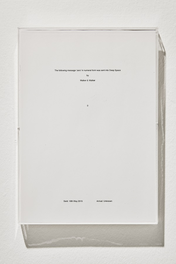 Walker and Walker. VOID. 2015, certificate, 29.7×21cm