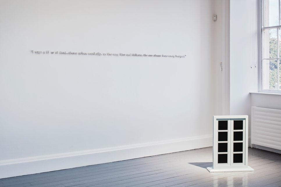 Walker and Walker. I SAY: A FL W R!, 2019. Aluminium lettering. 4 x 291 x 1.5 cm