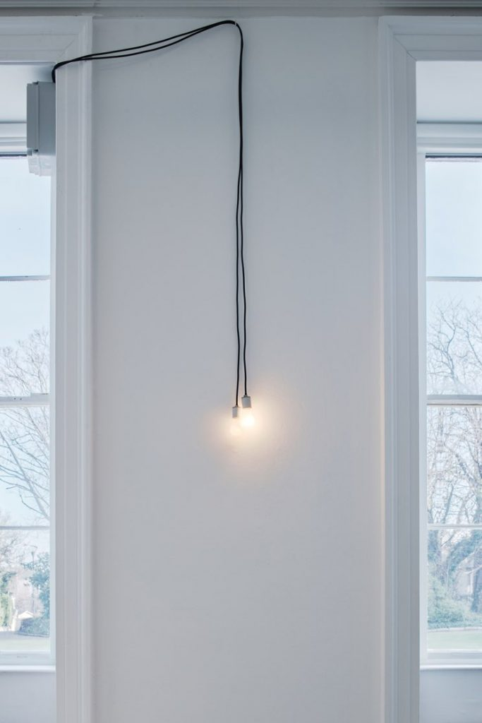 Walker and Walker. COMMUNION, 2015 Two programmed incandescent lightbulbs, dimensions variable