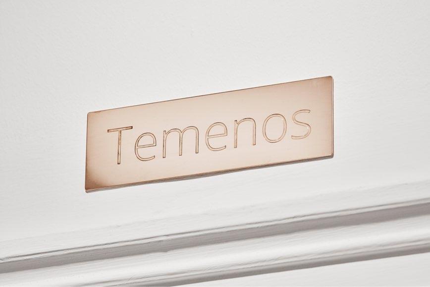 Walker and Walker. TEMENOS, 2019. Brass plaque18 x 5.5 cm