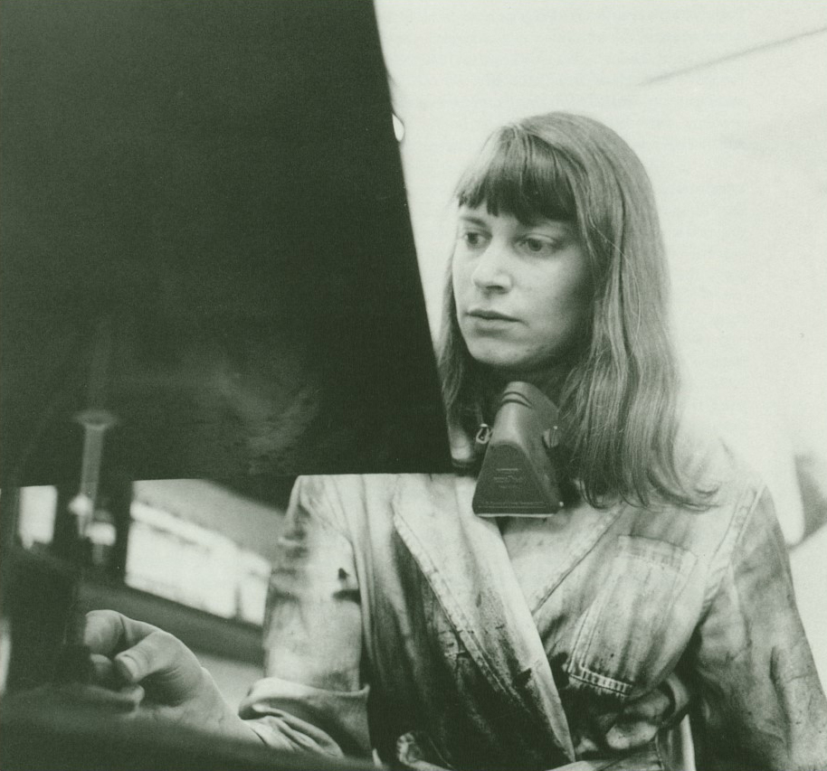 The Artist in her Studio, 1977, © The Estate of Mary Farl Powers