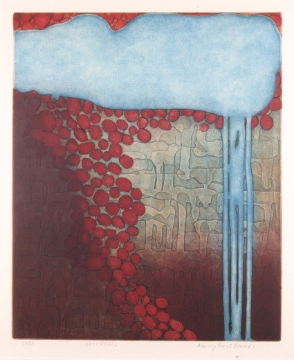 Mary Farl Powers, Waterfall, 1977, Colour etching, 48 x 40 cm, Collection Irish Museum of Modern Art, Donation, Powers Family, 2009