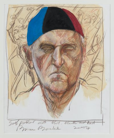 Self Portrait with Blue, Black and Red