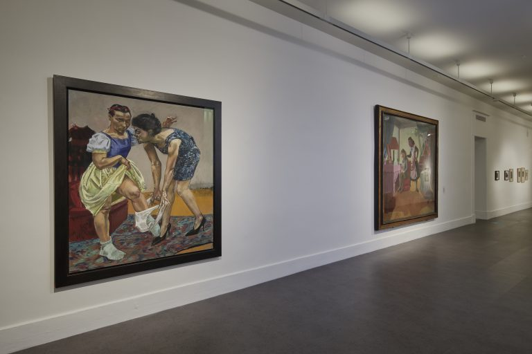 Installation view Paula Rego, Obedience and Defiance, IMMA, Dublin. Photo Ros Kavanagh.