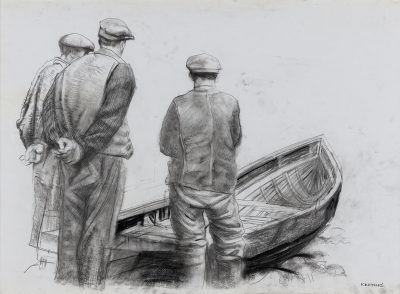 Fishermen with Currach