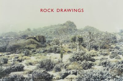 Rock Drawings (12 rock drawings and one photo-piece and certificate in portfolio case bound in black buckram)
