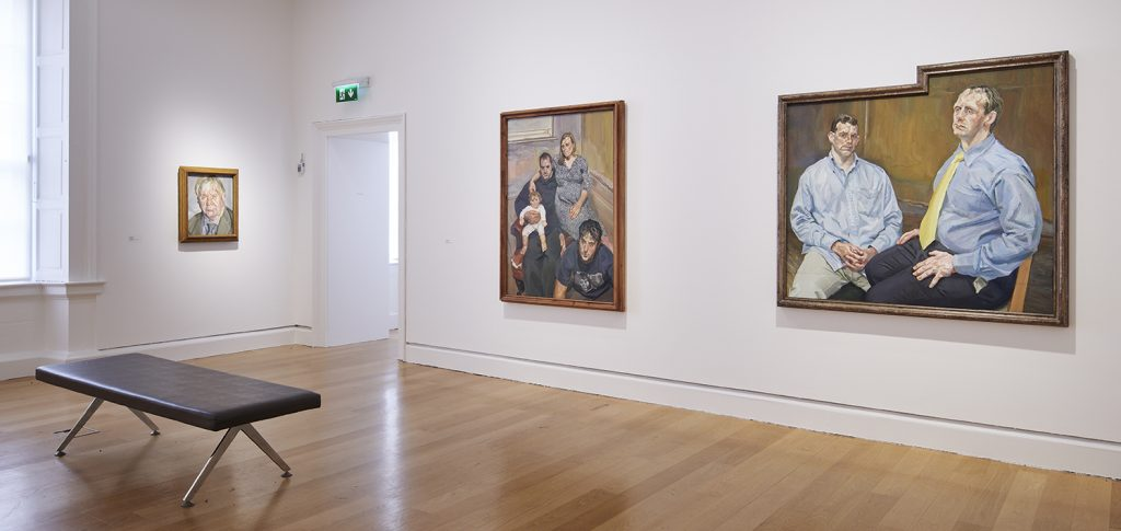 Installation view of 'Life Above Everything: Lucian Freud and Jack B. Yeats'. IMMA, Dublin. Photo by Ros Kavanagh