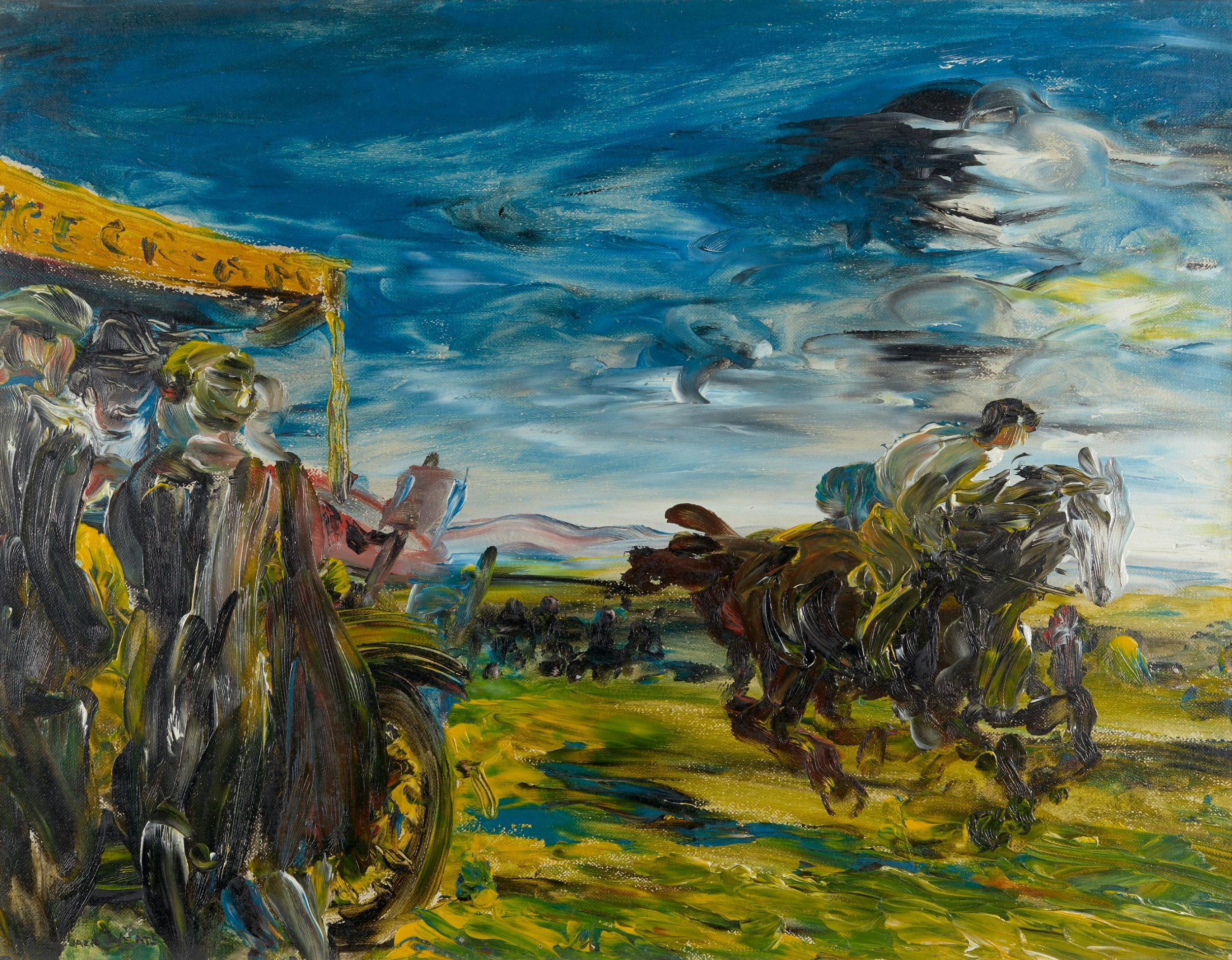 Jack B. Yeats, The Flapping Meeting, 1926, © Estate of Jack B. Yeats, DACS London / IVARO Dublin, 2019. Private Collection. Photo: Denis Mortell.