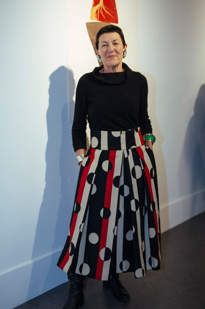 Janet Mullarney photographed at the Opening of 'Then and Now' / IMMA / 2019 / Photo by Kyle Tunney