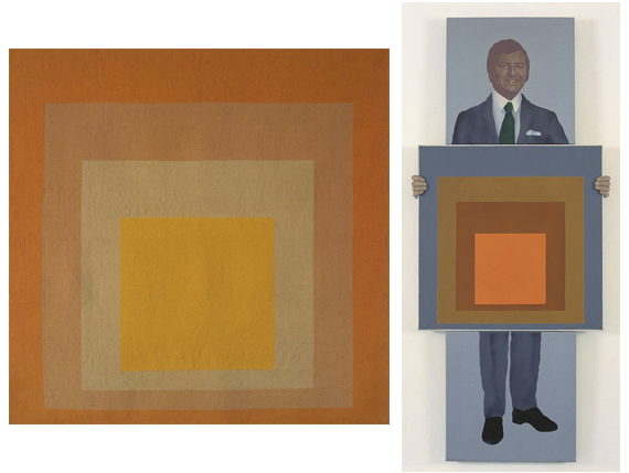 1. Josef Albers, 4 Carrés 4 Couleurs, 1969. 2. Robert Ballagh, Portrait of Gordon Lambert (commissioned by Gordon Lambert), 1972